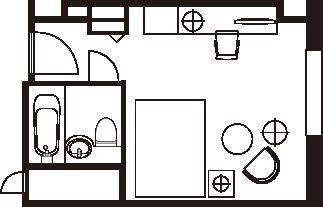 コンフォートシングルルーム 間取り図一例