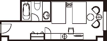 コンフォートツインルーム 間取り図一例