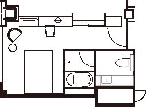プレミアダブルルーム 間取り図一例