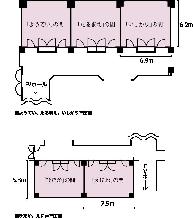 小宴会場(2階) 見取り図