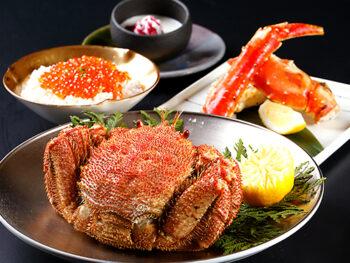 【1泊2食付!】北海道と言えばかに!ご夕食「Web限定 かに堪能セット」&朝食付